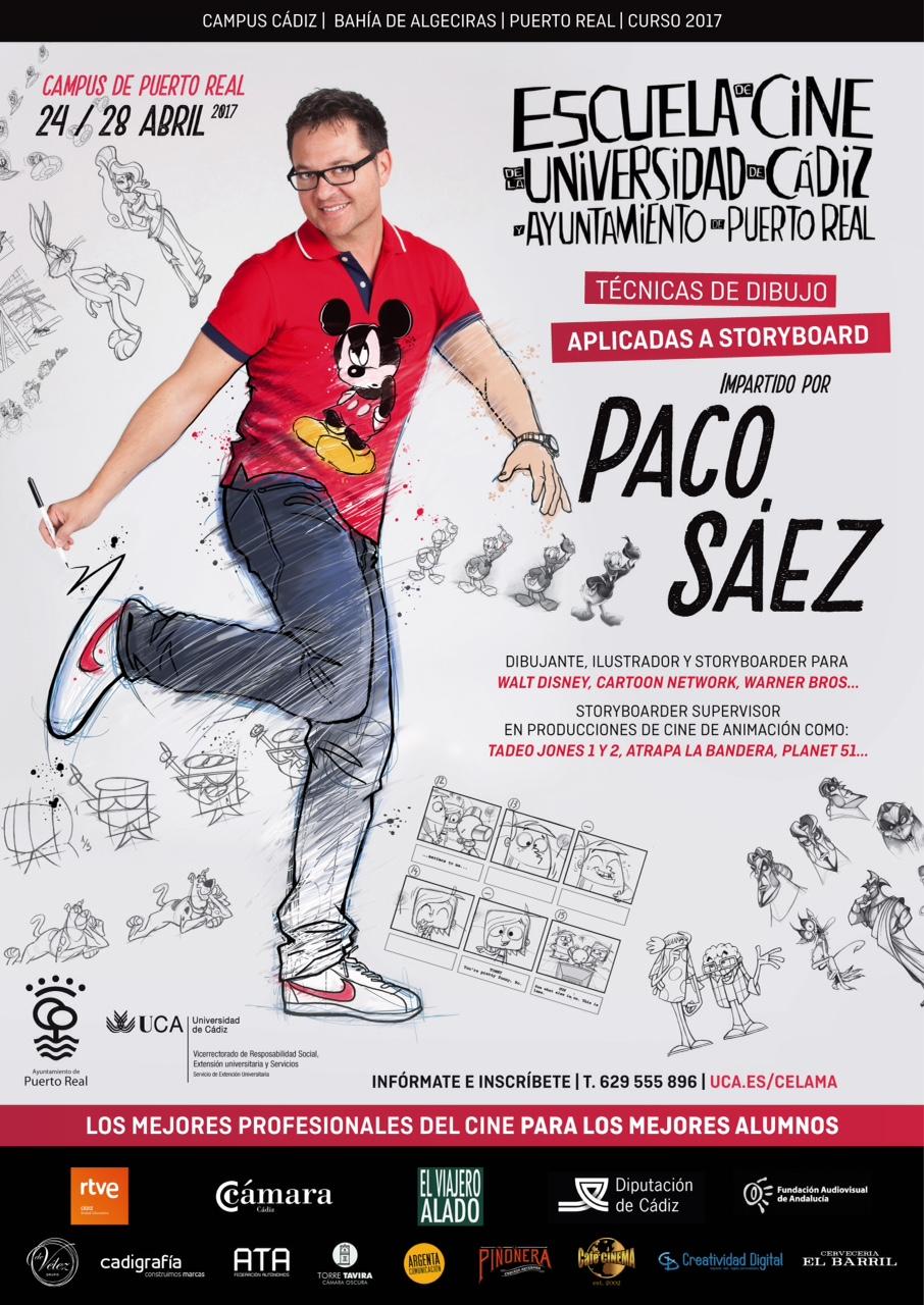 Técnicas de dibujo aplicadas a Story Board con Paco Sáez