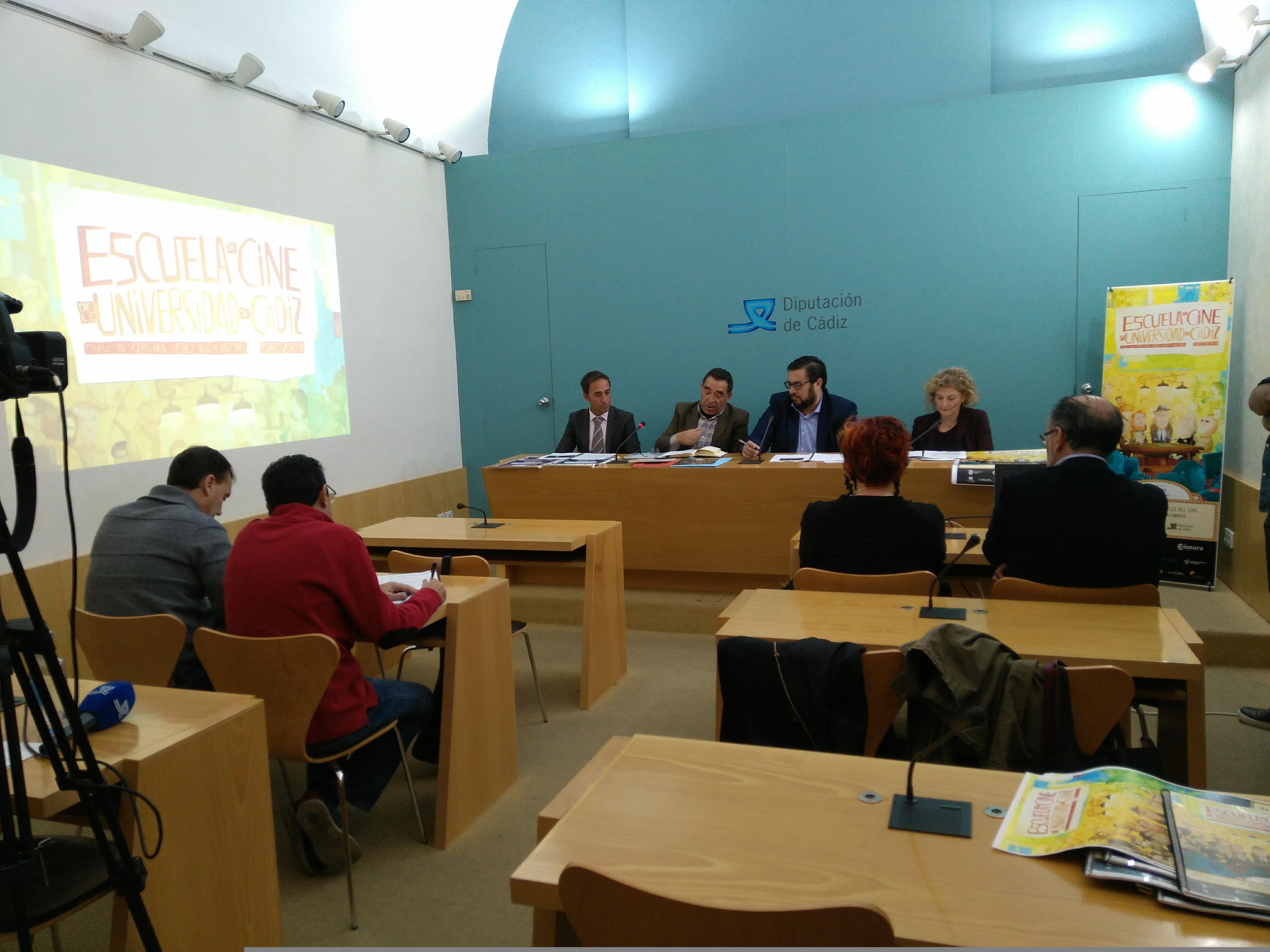 Presentación de La Escuela de Cine en Diputación de Cádiz